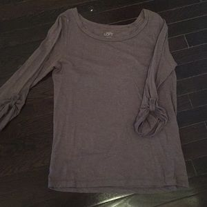 Loft 3/4 Tee with Button sleeves